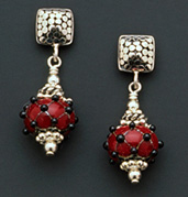 Burgundy - Earrings